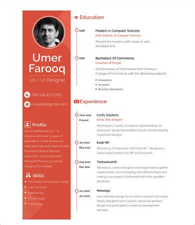 Chronological Resume Template For Word - FPPT